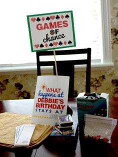 Welcome to my Fabulous Midlife Crisis Birthday- Vegas Style