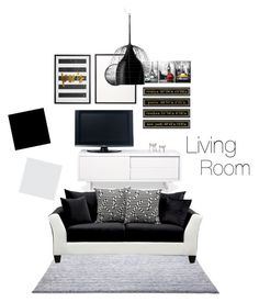 """Living room"" by nhitasheilota on Polyvore featuring interior, interiors, interior design, home, home decor, interior decorating, Ballard Designs, ESPRIT, TemaHome and Foscarini"