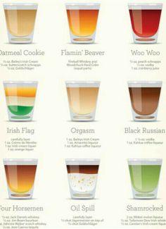 Drinks! pick your drinks  www.jcbartendingacademy.com