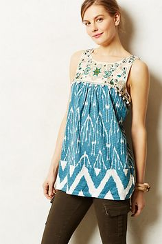 **SWAPPED** Cascata Tunic - anthropologie.com Size Medium - has front pockets!!!  NWOT--could also fit Large