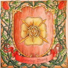 """Another golden rose, how original."" -Olenna Tyrell  #got #gameofthrones #housetyrell #ladyolenna #growingstrong #coloring #coloringbook #gameofthronescoloringbook #goldenrose"