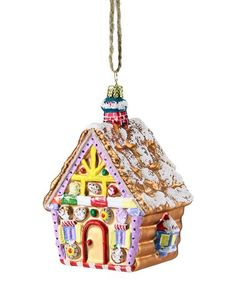 Love this Gingerbread House Ornament on #zulily! #zulilyfinds