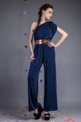Salopetă Diva Bleumarin- www.zonia.ro Spring Collection, Jumpsuit, Casual, Dresses, Fashion, Overalls, Vestidos, Moda, Fashion Styles