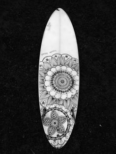 Surf board Mandala design. I'd love to do this to my twin tip!  Www.basixs.life