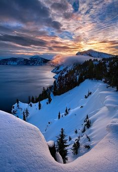 """Crater lake, Oregon"""
