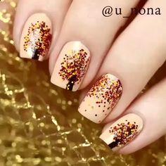 Nail Art Designs Videos, Fall Nail Art Designs, Nail Art Videos, Pink Nail Art, Pink Nails, Gel Nails, Nail Nail, White Nails, Nagellack Design