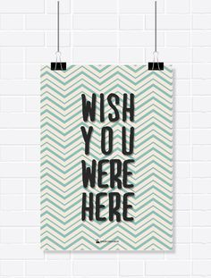 Pôster - Wish You Were Here