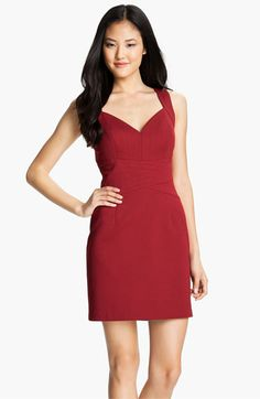 Laundry by Shelli Segal Seam Detail Sweetheart Sheath Dress available at #Nordstrom $185