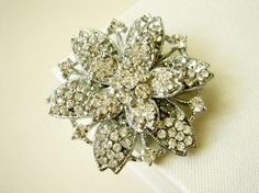 Fiocco di Neve Snowflake Winter Theme Wedding Brooch from Romantic Brides