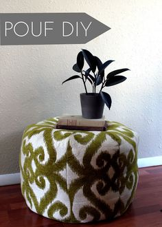 DIY Pouf I think this would be fun girls project! Mom?
