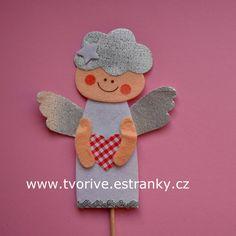 Andělíček se srdíčkem, hotový zápich Gingerbread Cookies, Cards, Gingerbread Cupcakes, Maps, Playing Cards