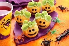 Marzipan pumpkin truffle recipe for Halloween