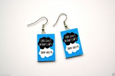 The Fault In Our Stars John Green Mini Book Earrings  Book Charm  Book Jewelry #JohnGreen #Bookearrings