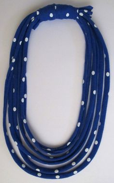 Baby Friendly MultiStrand Necklace in Blue & White by monkeyandmum, $27.00