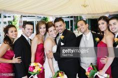 Stock Photo : Portrait of multi-ethnic bridal party
