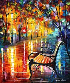 This is an oil painting on canvas by Leonid Afremov made using a palette knife only. You can view and purchase this painting here -afremov.com/THOUGHTS-PALETTE-K… Use 15% discount coup...