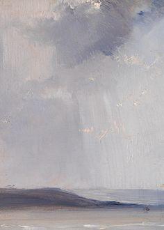 sforzinda: La Ferté (detail), Richard Parkes Bonington, ca. Contemporary Landscape, Abstract Landscape, Landscape Paintings, Classic Paintings, Great Paintings, Ciel Art, Colour Story, National Gallery, Sky Art