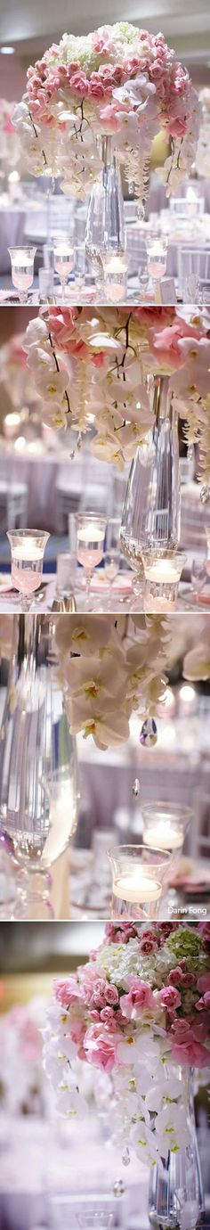 Pink, ivory, white reception