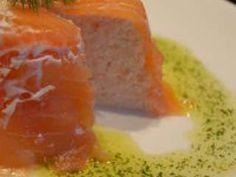 Aspic aux deux saumons, huile d'aneth et purée d'oignons, Recette Ptitchef