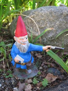 Only gnome I would ever allow in my yard!