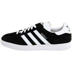adidas Originals Gazelle (£44) ❤ liked on Polyvore featuring shoes, sneakers, adidas, training shoes, leather footwear, genuine leather shoes, real leather shoes and leather shoes