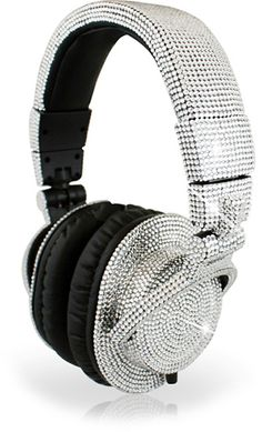 All I want for my Birthday are these Swarovski DJ Headphones wireless headphones that connect to my surround sound system so i can zone out