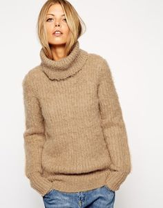 ASOS Jumper in Brushed Alpaca With Roll Neck