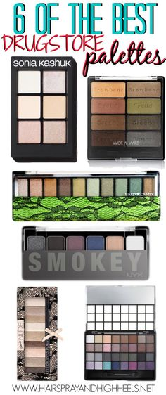 Best Drugstore Palettes! An awesome list of the best drugstore palettes to buy! #Makeup #Beauty #beautytips