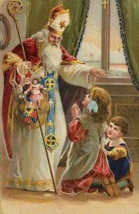 St. Nicholas was a Catholic bishop, and his feastday is December 6, not December 25