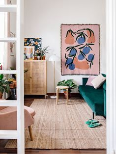 Danish Interior, Modern Interior Design, Orange Couch, Scandinavian Home, Home Decor Inspiration, Furniture Decor, Modern Contemporary, Sweet Home, Interior Decorating