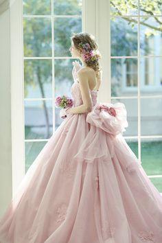 Disney Wedding Dresses, Bridal Dresses, Wedding Gowns, Stunning Dresses, Pretty Dresses, Beautiful Outfits, Colored Wedding Dress, Fantasy Dress, 15 Dresses