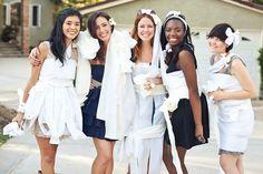 toilet paper wedding dress bridal shower fame