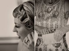 A 1920s Inspired City-Chic London Wedding ~ Vintage Dinner Suits, Black Tie
