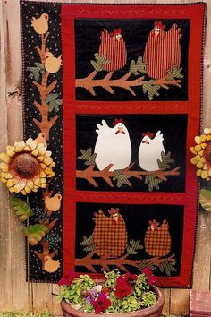 Meme's Quilts Midnight Roosters