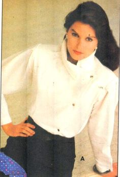 Love the collar on this Vintage 80s asymetrical blouse, Butterick 4748. Great shirt for Fall! Just added to my UNDER $5 Section of my Etsy store, EXTREMESEWINGDIVA.  https://www.etsy.com/listing/240046227/butterick-4748-sz-10bust-325-vintage-80s