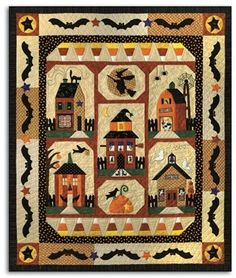 Sew Spooky Fall Autumn Halloween Town Witch Bat Set of 6 Quilt Patterns Halloween Sewing, Halloween Quilts, Halloween Town, Halloween Crafts, Fall Sewing, Halloween Fabric, Halloween Blocks, Halloween 2013, Halloween Images