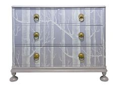 Dishfunctional Designs: Upcycled Dressers: Painted, Wallpapered, & Decoupaged