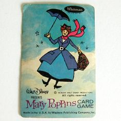 Mary Poppins Playing Cards 1964 Vintage Old Maid Game Complete Walt Disney Productions