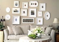 Great tips for hanging groups of pictures and making them look like a collection.