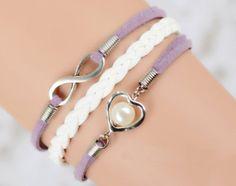 Best Bridesmaid Gifts,best Gift for Girl,infinity Heart Lavender Bracelet,hand Woven White Band Bracelet Joyplancraft http://www.amazon.com/dp/B00IP327U0/ref=cm_sw_r_pi_dp_dHYjvb0H3E02R