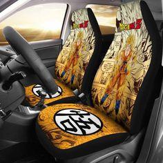 Goku Saiyan Dragon Ball Z Car Seat Covers Manga Mixed Anime Strong Universal Fit 194801