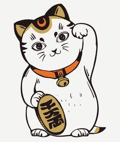 Maneki Neko tattoo art - illustrator