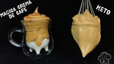"Make magic with the coffee in just 3 minutes ""Magic cream of coffee"" Delicious Desserts, Dessert Recipes, Yummy Food, Creme, Cake Cafe, Queso Cheese, Funny Cake, Cake Fillings, Puddings"