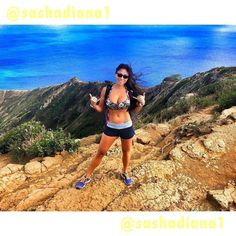 Aloha! ... Made it to the very top  of #kokohead railroad in 26:18. 1200 feet elevation gain. Not bad for my first time . Was hot AF. Thanks random stranger for taking this pic.  great workout #fitness #hiking #hawaii #travel #optoutside #wanderlust #shaka #happy #goodtimes #oahu #honolulu #hawaii #beautifulview by sashadiana1