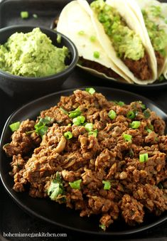If there's one thing MacGyver taught me, it's that you can be creative with household items, and this vegan taco meat is no exception! Using simple ingredients. Vegan Taco Meat Recipe, Vegan Mexican Recipes, Vegan Recipes Easy, Meat Recipes, Whole Food Recipes, Vegetarian Recipes, Recipes Dinner, Healthy Eating Tips, Healthy Baking