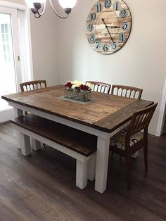 farmhouse kitchen tables french country designs pintastic furniture muebles mesas hogar custom made table this features solid pine wood with extra support to help