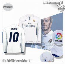 Maillots-Sport: Créer Un Maillot Foot Real Madrid Manche Longue James 10 Domicile 2016 2017