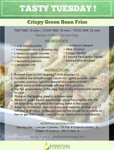 A crispy twist on the popular dinner side: green beans. Taking the classic green bean and adding a little extra crisp to it creates the similar experience of eating a plate of french fries. (With a LOT less calories and fat, of course) Crunchy, addictive AND healthy? It's true, you really need to try these. #Healthy #dinner #sides #recipes #ideas Crispy Green Beans, Fried Green Beans, Healthy Dinner Sides, Powdered Eggs, Olive Oil Spray, Ranch Dressing Mix, Vegetable Recipes, Recipies, Cooking Recipes
