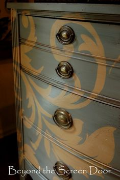 Beautiful, hand painted dresser