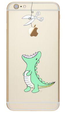 Handyschalen - Dino frisst Apple Handyhülle Iphone 6 6s 7 Silikon - ein Designerstück von Isaboe bei DaWanda